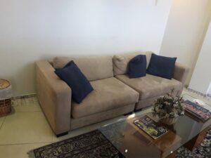 ניקיון ספה שני מושבים בבית פרטי בשכונת טירת שלום בנס ציונה