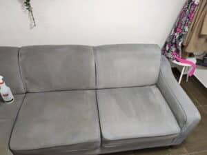 ניקוי ספה צבע אפור - כמו חדשה