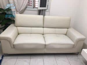 ניקוי ספה דו מושבית מעור אמיתי