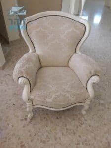 ניקוי ריפודים לכורסא עתיקה