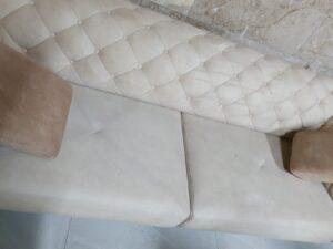 ספה רטובה אחרי ניקוי מקצועי - המתנה של כ6 שעות לייבוש