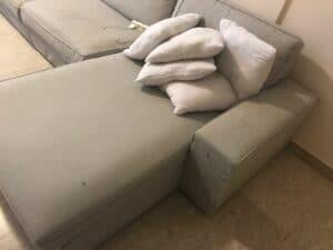 ניקוי ספה פינתית בשכונת הדרים בכפר סבא