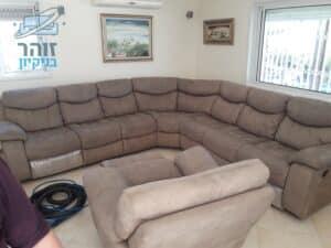 חידוש ספה פינתית גדולה