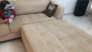 ניקוי ספה פינתית מבד בבת ים בשכונת רמת הנשיא