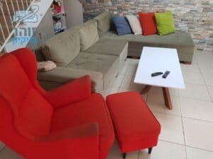 ניקוי ספות וכורסא עם ריקליינר בהרצליה פיתוח