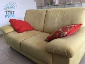 ניקוי ספה שני מושבים בשכונת נאות רחל בחולון