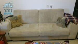 ניקוי ספה 2+3 בכפר סבא בשכונת קפלן