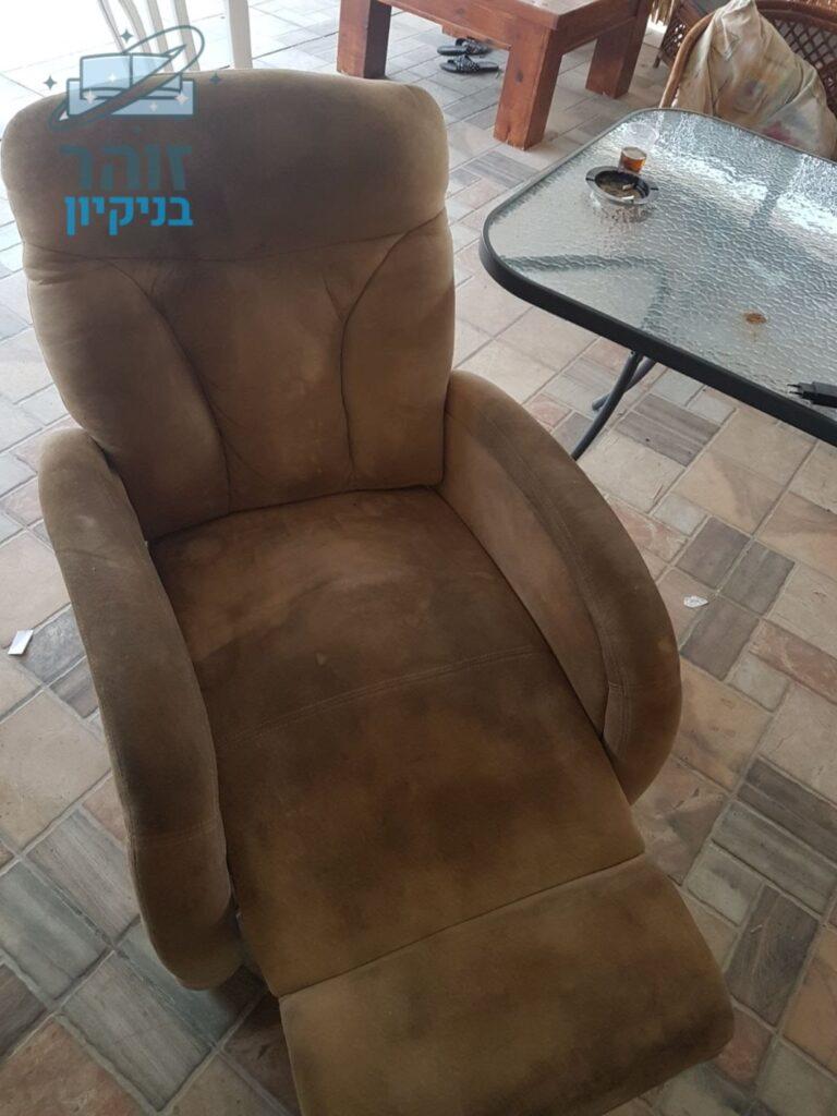 ניקוי כורסא מבד סינטטי