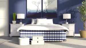 שטיחים מקיר לקיר בחדר שינה אחרי ניקוי