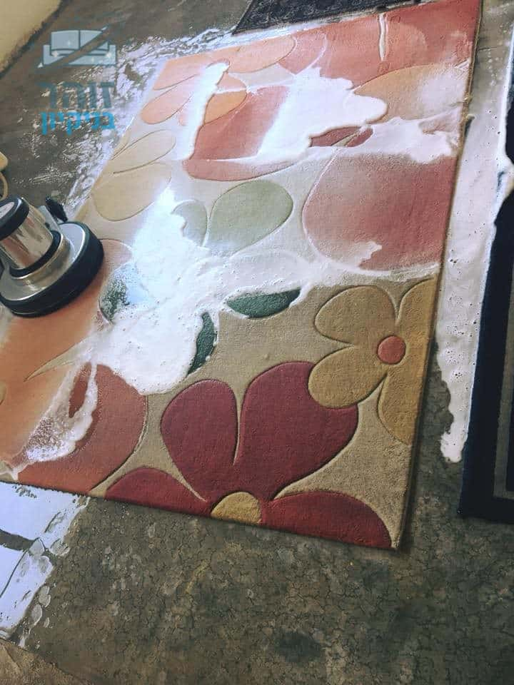 ניקוי יסודי לשטיח פרווה לסלון בבית פרטי בשכונת כרמים בראשון לציון