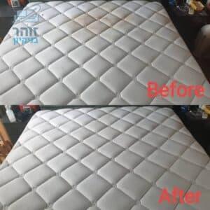 לפני ואחרי ביצוע ניקוי מיזרון במלון בהרצליה מכתמים של קפה, שמן ועוד