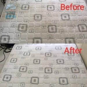 לפני ואחרי ניקוי מיזרון מיטה וחצי מכתמים של שתן ומעובש בדירה ברחובות בשכונת גני סביון