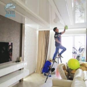 ביצוע ניקיון מאסיבי בבית מרוהט אחרי סיום תוספת בניה לדירה קומה 2