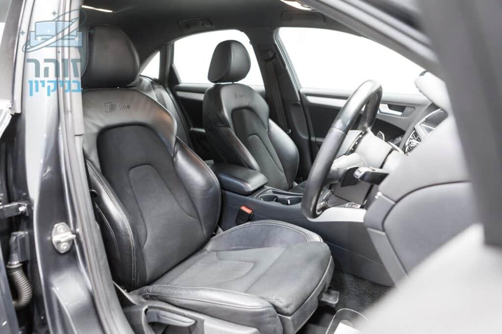 ניקוי ריפודים משולב בד ועור ברמה גבוהה ביותר לרכב לפני מכירה בנתניה בשכונת עיר ימים