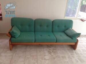 ניקוי ספה מבד פשתן החזרנו את הספה ממש למצב כמו שיצאה מהחנות כולל ריח נעים ומרענן בבית פרטי בצפון