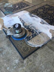 שאיבה ושטיפה לשטיח מאויר עבודת יד בשכונת אפקה בתל אביב