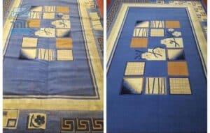 ניקוי שטיח לסלון לפני ואחרי באיכות גבוהה בבית בשכונת צהלה בתל אביב