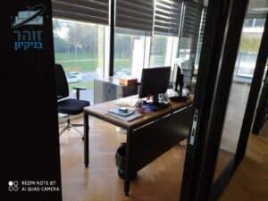 משרדים בבני ברק אחרי ניקיון יומי בבוקר